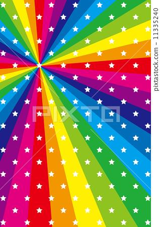 背景素材壁纸(星,星の模様, 星模様,星の図柄, 虹, 虹色, レインボー