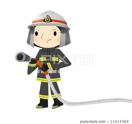 职业/上班族 专业工作 消防员 插图 消防员 男人 男 首页 插图 职业