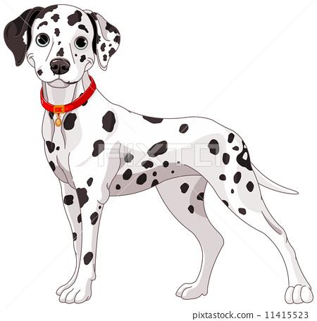 斑点狗 绘画 stock 插图
