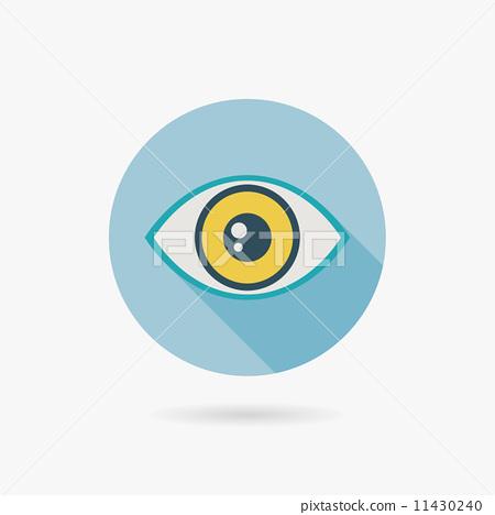 眼睛 矢量图 stock 插图