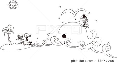 插图素材: 矢量 海浪 人物