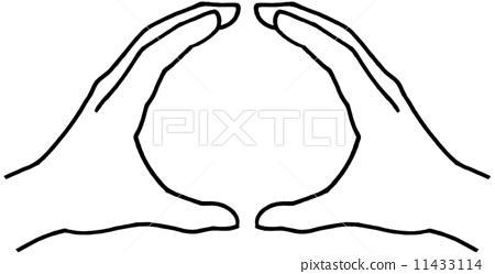 手 圆圈 两只手