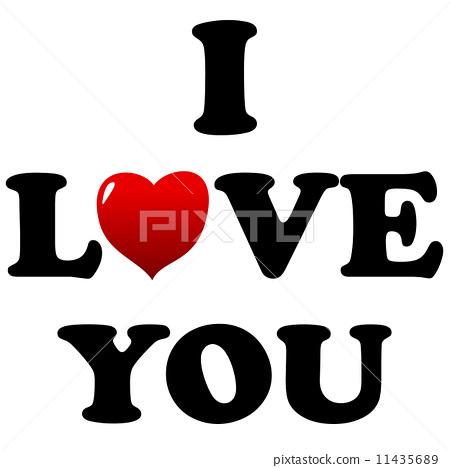 i love you手绘