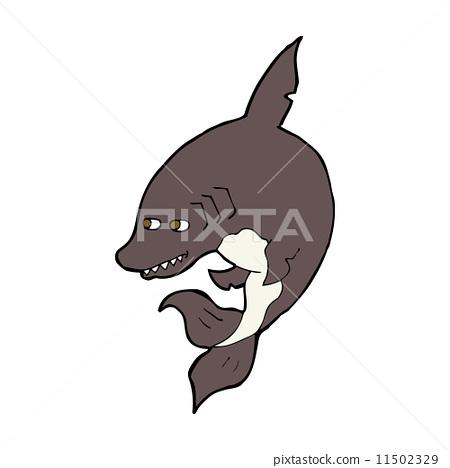鲨鱼 绘画 stock 插图