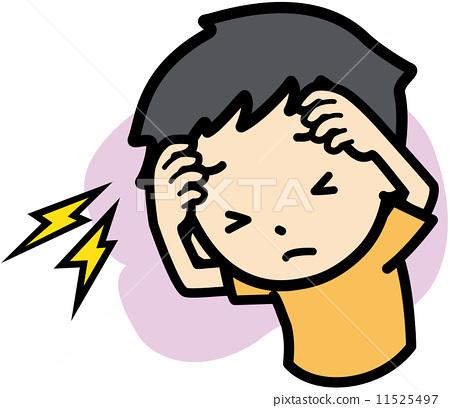 图库插图: 矢量 头疼 头痛