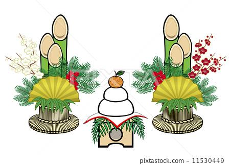 图库插图: 新年的圣诞树装饰 新春 新年装饰