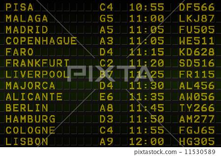 black airport departures board 11530589