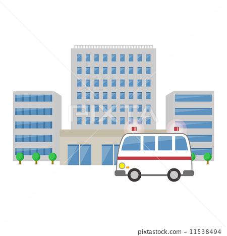 医院 救护车 场景