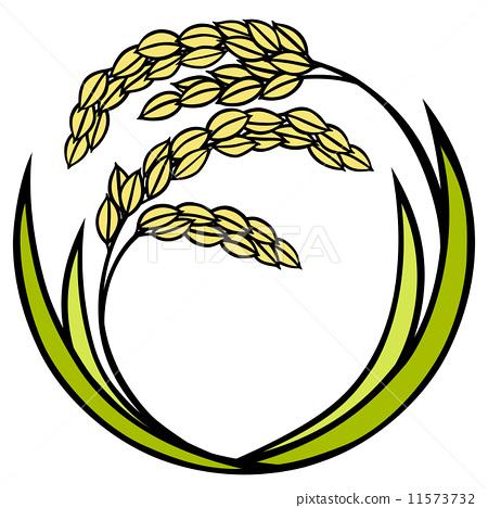 制造业_蓝领工人 农民 稻穗 白色背景 白底  *pixta限定素材仅在pixta