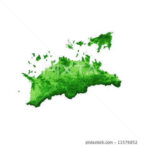 香川县 地图 小豆岛-插图素材 [11576852] - pixta图库