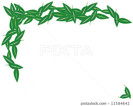 背景素材 边框 叶子-图库插图 [11584642] - pixta