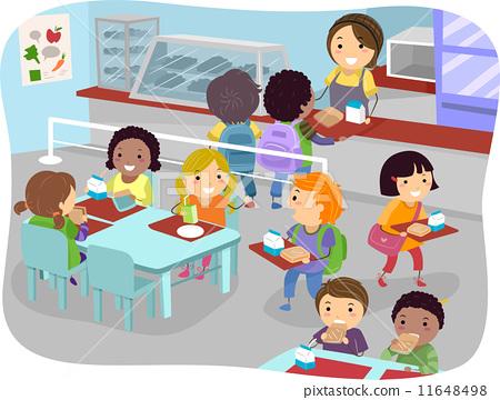 插图 矢量图 canteen kids