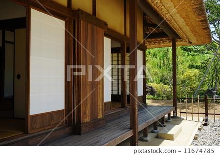 日式房屋 游廊 门厅