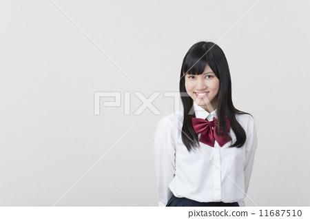校服 首页 照片 人物 学生 高中生 高中生 制服 校服  *pixta限定素材