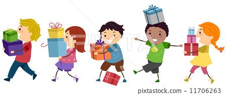 插图 矢量图 kids gifts