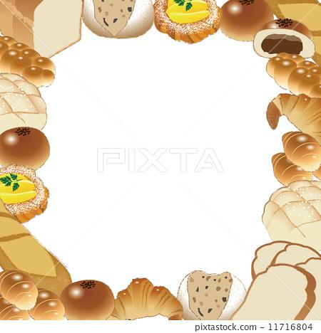 插图 矢量图 面包 面包房 边界