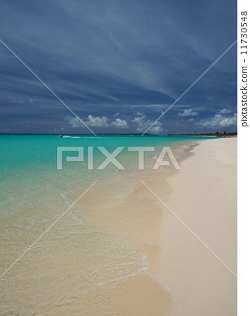 图库照片: 宫古岛 与那霸前滨海滩 水边