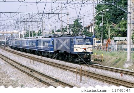图库照片: 昭和 东海道本线 客车