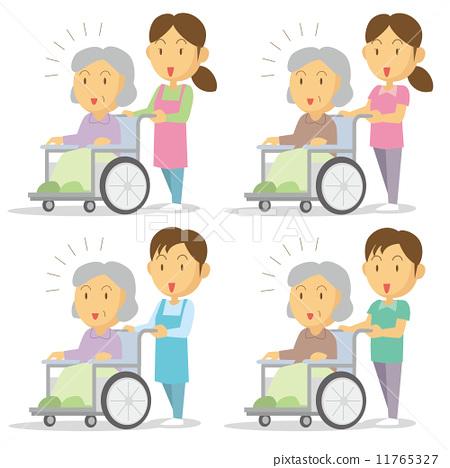 护理员 轮椅 看护人