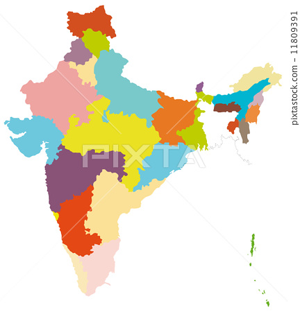 地图 印度 插图