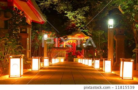 图库照片: 灯笼 挂灯笼 江岛神社