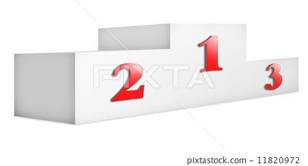 123颁奖台矢量图