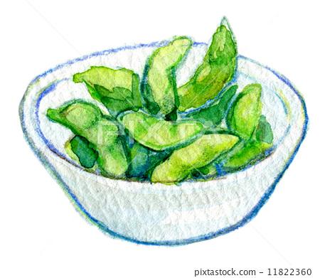 插图素材: 食物 毛豆 绿大豆