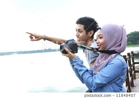 男女 拍电影 照相图片