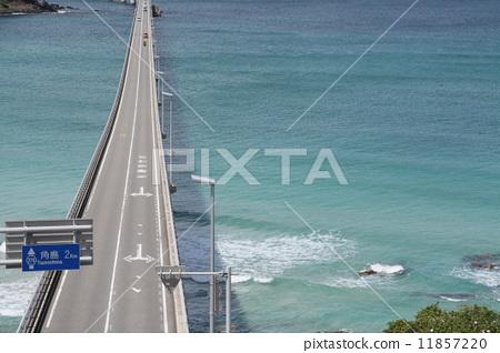 角岛大桥 高架桥 沟通