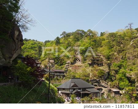 图库照片: 立石寺 山中寺庙 奥之小道
