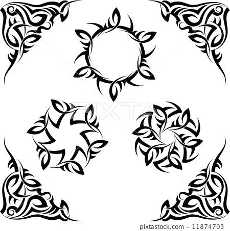纹身 矢量图 stock 插图