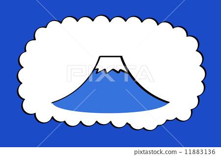 图库插图: 矢量 富士山 打招呼