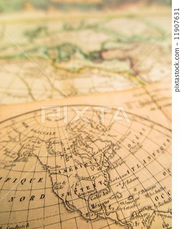 世界地图 拉丁美洲 复古
