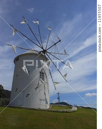 风车 风力涡轮机 农村