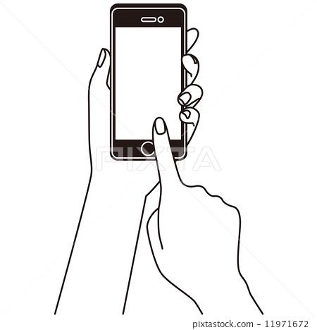 图库插图: 智能手机的操作手机