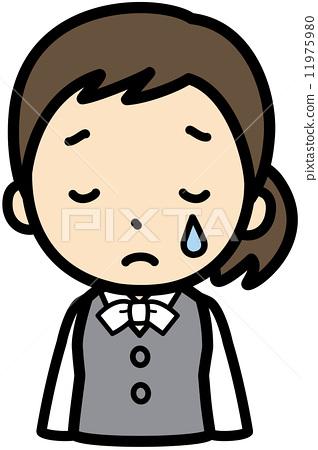 遗憾 白领丽人 悲伤 首页 插图 姿势/表情/动作 情绪 眼泪/哭泣 遗憾