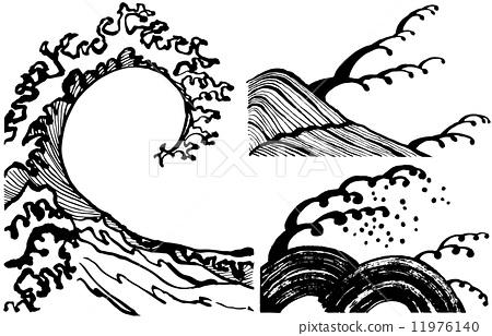 波浪 波 波涛汹涌的海面