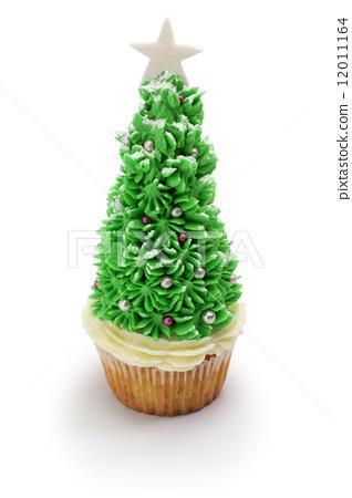圣诞树 杯子蛋糕 纸杯蛋糕