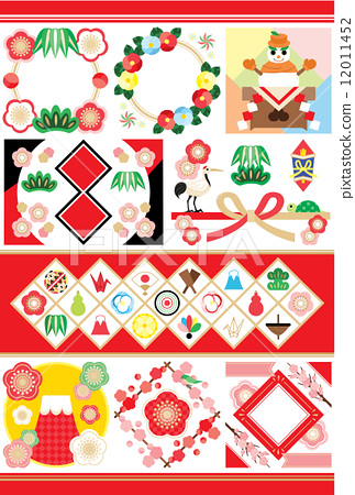 插图素材: 新年图像 剪贴画 新年贺卡材料