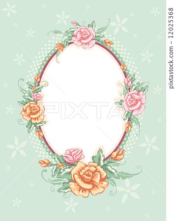 椭圆形镜框