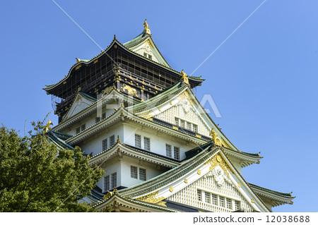 日本风景 大阪 大阪城 照片 大阪城 城堡塔楼 天守阁 首页 照片 日本