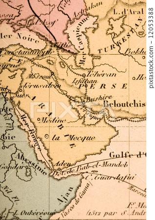 图库照片: 地图 阿拉伯半岛 沙特阿拉伯