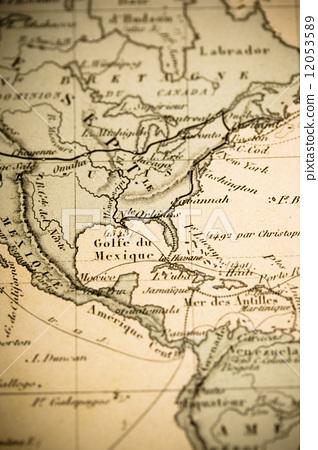 墨西哥 古董地图 拉丁美洲