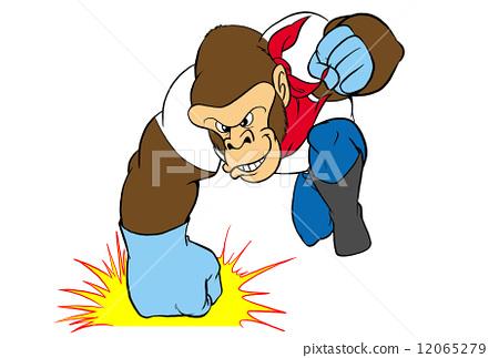 动物 拳打 大猩猩