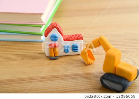 图库照片: 粘土工作 用粘土做东西 房屋