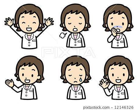 q版女医生卡通头像