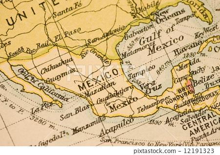 墨西哥 地图学 古董地图