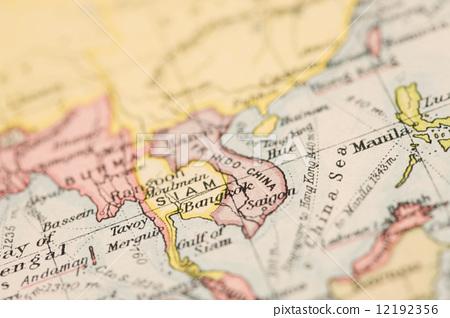 柬埔寨 古董地图 世界地图