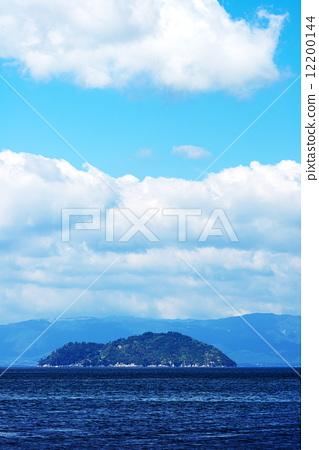 琵琶湖 竹生岛 滋贺县