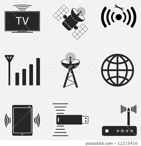 插图 矢量图 wifi icon set two